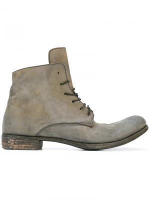 Ботинки на шнуровке A Diciannoveventitre. Цвет: зелёный