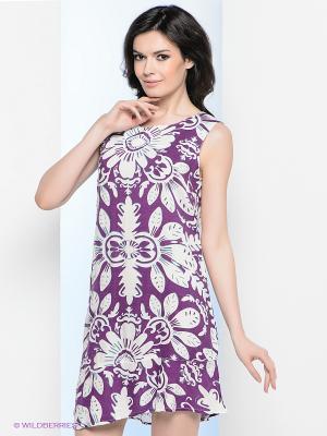 Платье Vis-a-vis. Цвет: фиолетовый, белый