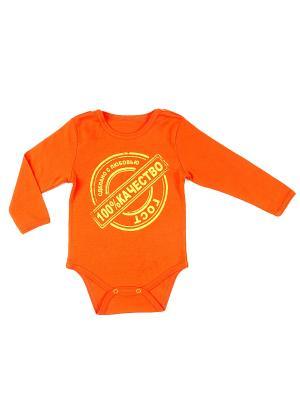 Боди для детей Апрель. Цвет: оранжевый, золотистый