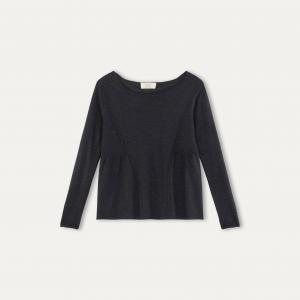 Пуловер из шерсти и шелка YEAR BA&SH. Цвет: антрацит,экрю