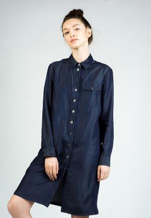 Платье джинсовое BURLO. Цвет: синий