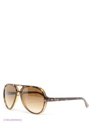 Очки солнцезащитные CATS 5000 Ray Ban. Цвет: коричневый