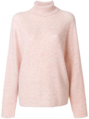 Свитер с высокой горловиной Gabriela Hearst. Цвет: розовый и фиолетовый