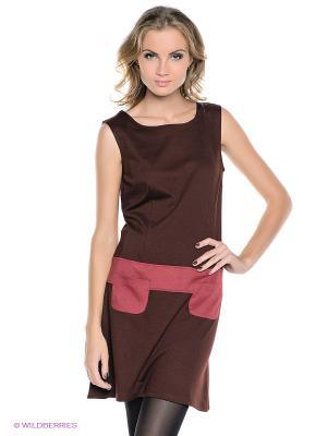 Платье MONDIGO. Цвет: коричневый