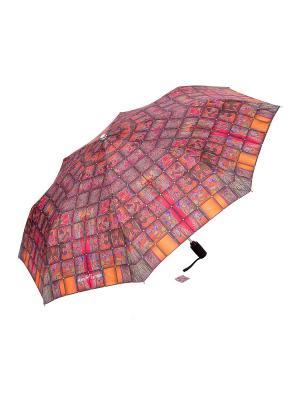 Зонт Slava Zaitsev. Цвет: темно-красный