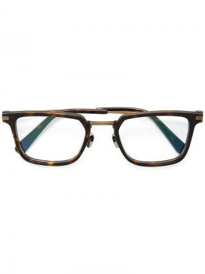 Очки с квадратной оправой Brioni. Цвет: чёрный