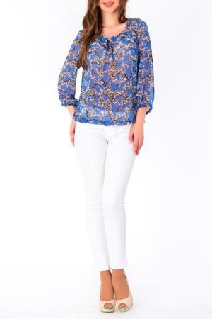 Блуза S&A style. Цвет: голубо-белый