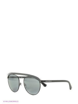 Солнцезащитные очки Emporio Armani. Цвет: черный