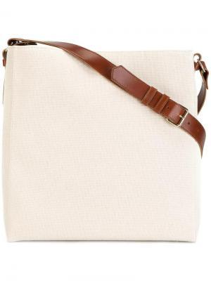 Большая сумка на плечо Lanvin. Цвет: телесный