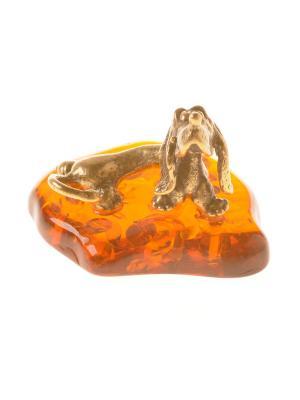 Фигура Такса Бассет Aztek. Цвет: желтый, коричневый, светло-оранжевый