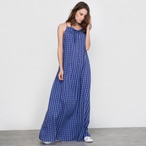 Платье длинное La Redoute Collections. Цвет: набивной рисунок