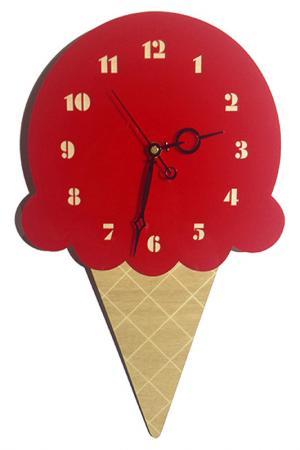 Часы Мороженое W-ERA. Цвет: красный, бежевый