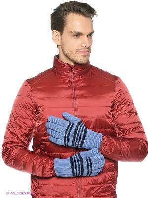Перчатки Milana Style. Цвет: голубой