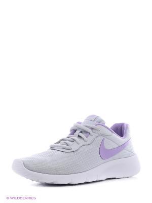 Кроссовки NIKE TANJUN SE (GS). Цвет: серый, фиолетовый