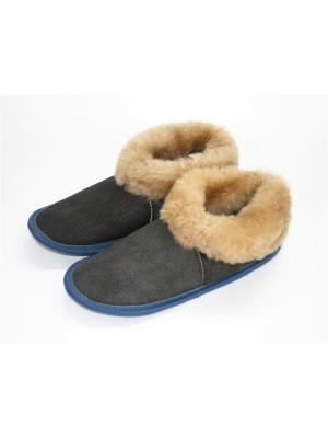 Туфли комнатные - чуни Тефия. Цвет: серый, бежевый