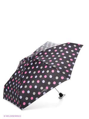 Зонт Isotoner. Цвет: темно-серый, голубой, розовый