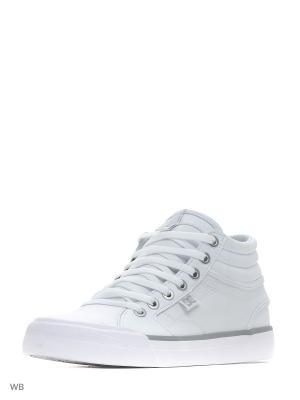 Кеды DC Shoes. Цвет: белый, серебристый