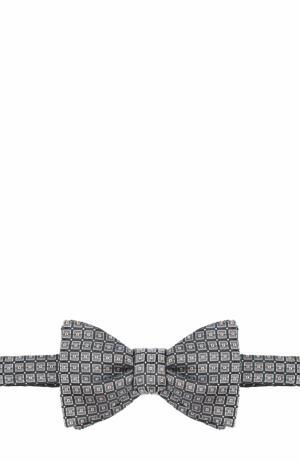 Шелковый галстук-бабочка с узором Eton. Цвет: коричневый