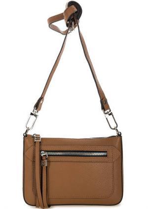 Маленькая кожаная сумка через плечо Gianni Chiarini. Цвет: коричневый