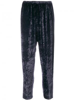 Укороченные зауженные брюки Forte. Цвет: синий
