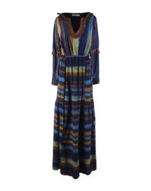 Длинное платье FRANKIE MORELLO. Цвет: темно-синий