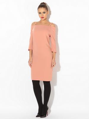 Платье TuttoBene. Цвет: персиковый