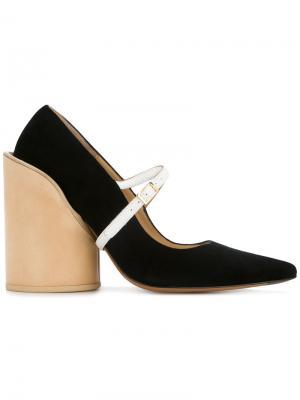 Туфли-лодочки на толстом каблуке Jacquemus. Цвет: чёрный