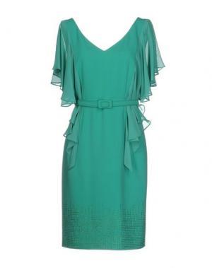 Короткое платье MUSANI COUTURE. Цвет: светло-зеленый