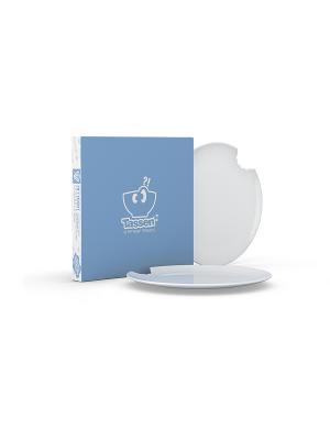 Набор из 2-х десертных тарелок/СЛЕГКА ГОЛОДЕН/белый Tassen. Цвет: белый