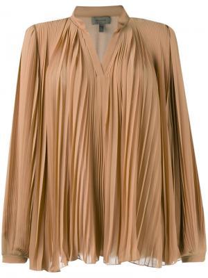 Блузка со сборками Tony Cohen. Цвет: телесный
