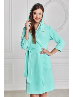 Халаты банные AnGela. Цвет: светло-зеленый