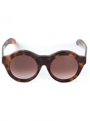 Солнцезащитные очки A1 Kuboraum. Цвет: коричневый