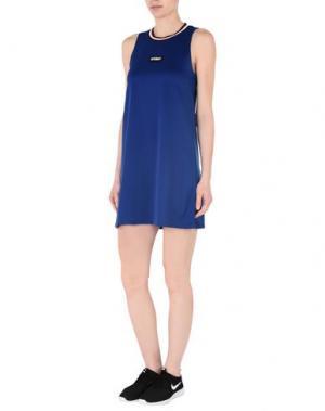 Короткое платье STUSSY. Цвет: синий
