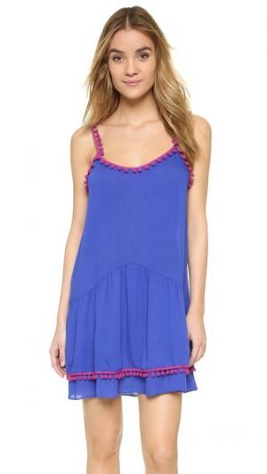 Платье Milla MISA. Цвет: цвет слоновой кости/синий