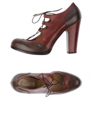 Туфли SARTORE. Цвет: красно-коричневый