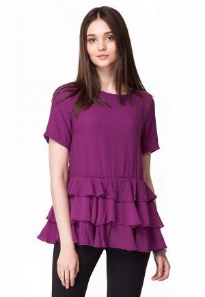Блуза Vilatte. Цвет: розовый