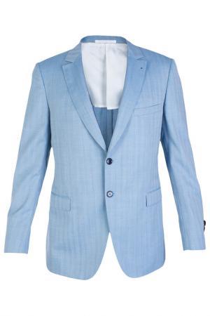 Однобортный пиджак Smalto. Цвет: голубой