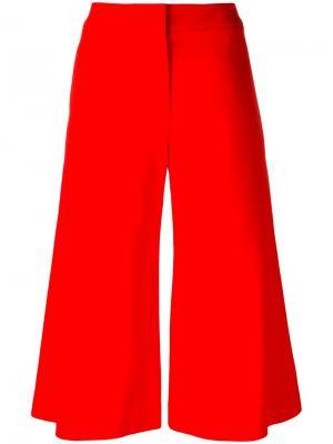 Укороченные широкие брюки Jonathan Simkhai. Цвет: красный