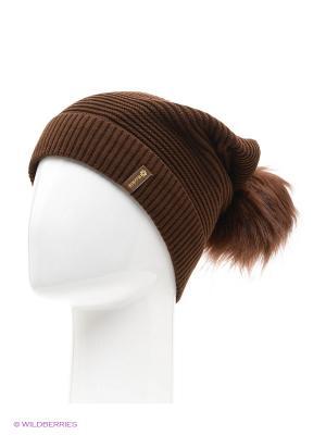 Жаклин Беркле шапка женская с помпоном Berkle. Цвет: темно-коричневый