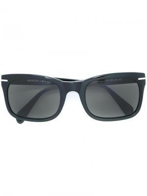 Солнцезащитные очки  с квадратной оправой Moscot. Цвет: чёрный