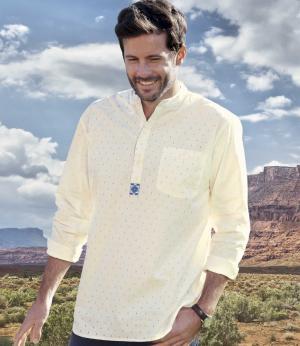 Рубашка AFM. Цвет: белыи