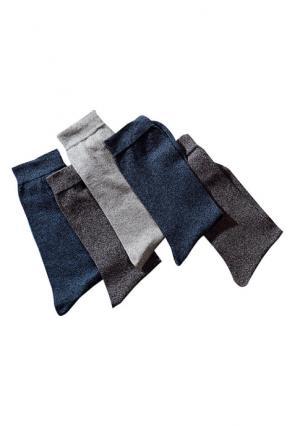 Носки, 6 пар Arizona. Цвет: 2x темно-серый+2x джинсовый+1x светло-серый+1x светло-джинсовый, 6х черный