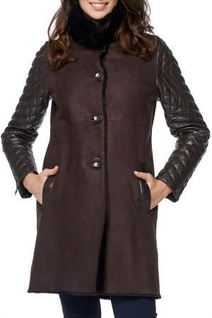 Дубленка Jean Guise. Цвет: dark brown