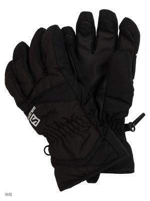 Перчатки GLOVES ELECTRE GLOVE JR SALOMON. Цвет: черный