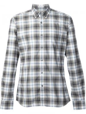 Рубашка в клетку Tomas Maier. Цвет: белый