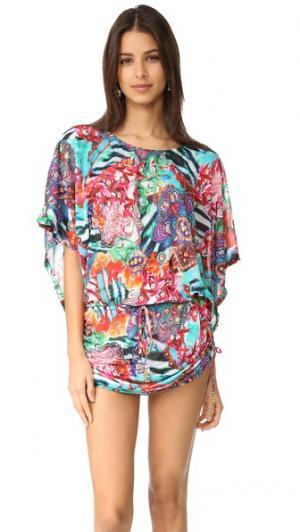 Пляжное платье Like a Flame South Luli Fama. Цвет: мульти