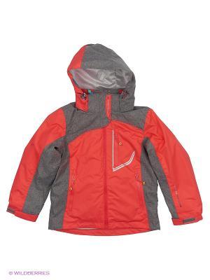 Куртка 3 в 1 High Experience. Цвет: коралловый