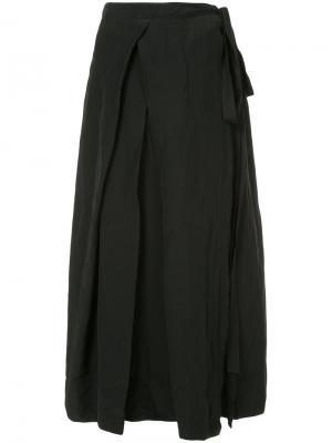 Юбка средней длины Uma Wang. Цвет: чёрный