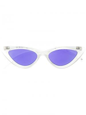 Солнцезащитные очки в оправе кошачий глаз Le Specs. Цвет: белый