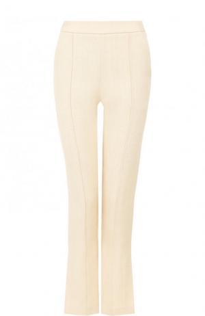 Укороченные расклешенные брюки со стрелками Rosie Assoulin. Цвет: бежевый
